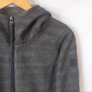 BENCH Textured Grey Hooded Sweater - Size: S(6)